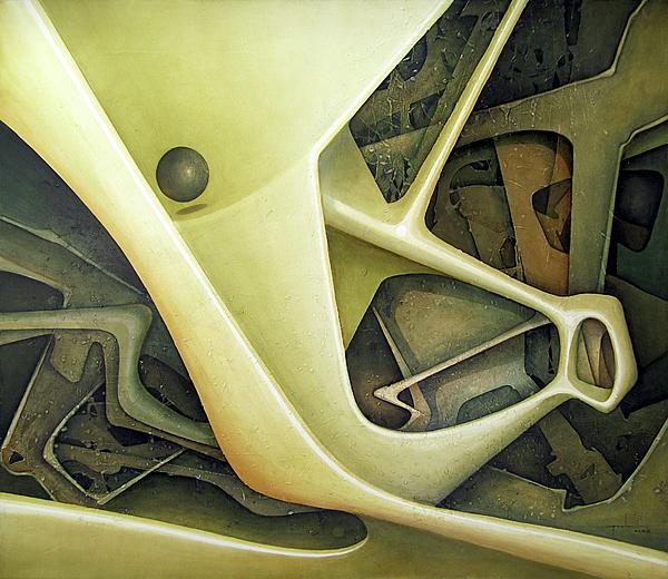 Ol1962dc001 Micro Cosmos 48x58 Print by Alfredo Da Silva
