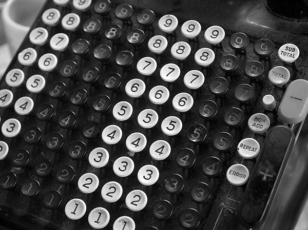 Old Adding Machine Print by Arni Katz