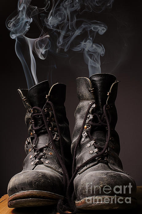 Andreas Berheide - Old boots with smoke