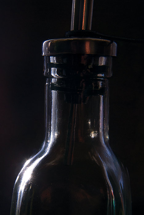 Old Bottle Print by Steve Somerville