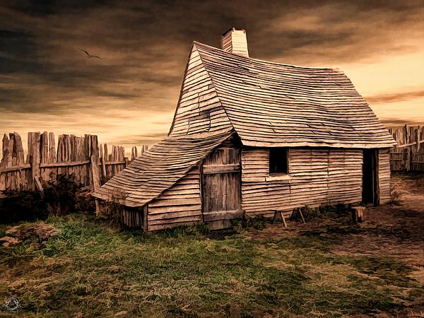 Old English Barn Print by Lourry Legarde