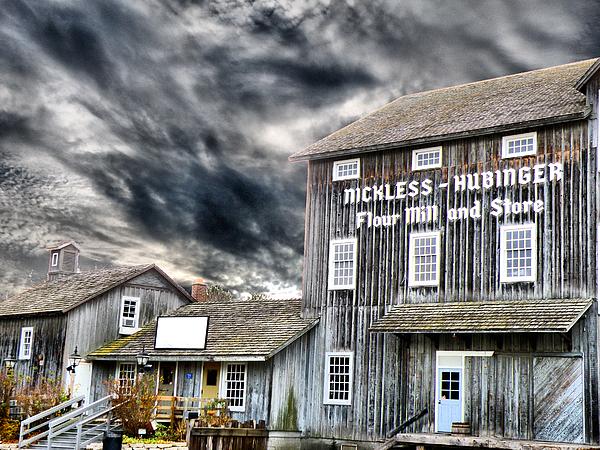 Old Grain Mill Print by Scott Hovind