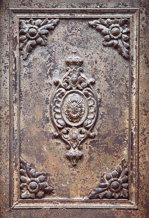 old metal door texture with rust by eduardo huelin