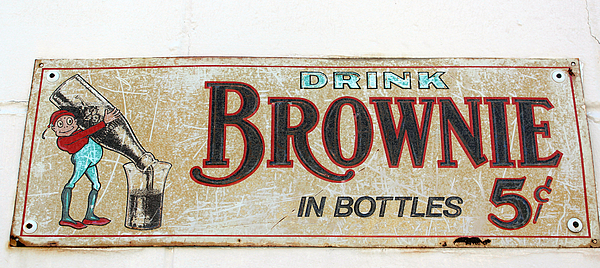 Old Old Brownie Soda Sign By Deb Hayes