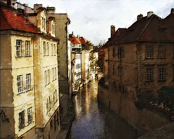 Old Prague Print by Jo-Anne Gazo-McKim