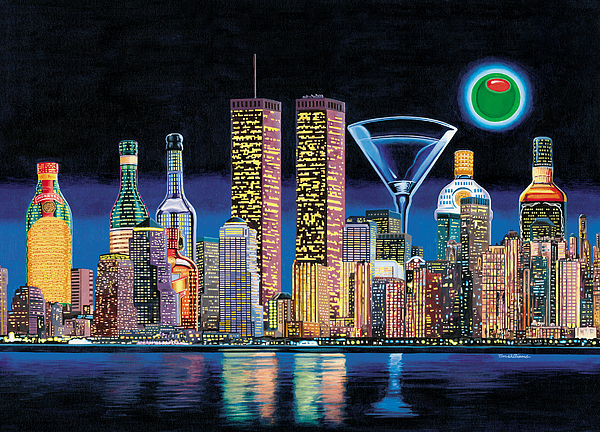 Olive Ny Print by Tim Williams