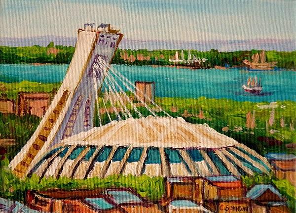 Olympic Stadium  Montreal Print by Carole Spandau