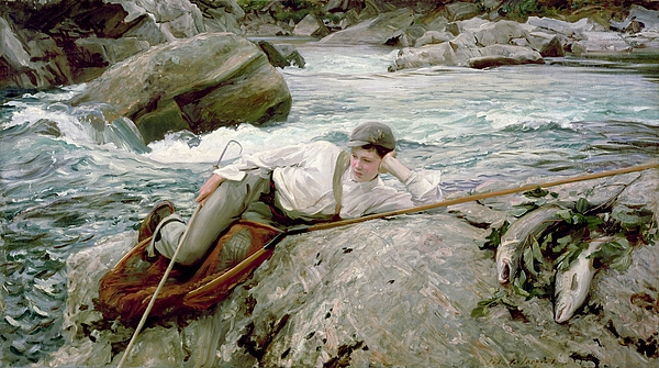 On His Holidays Print by John Singer Sargent