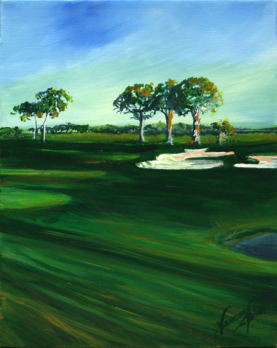 On The Fairway Print by Michele Hollister - for Nancy Asbell