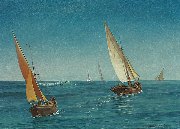 On The Mediterranean Print by Albert Bierstadt