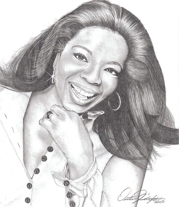 Oprah Print by Dustin Knighton