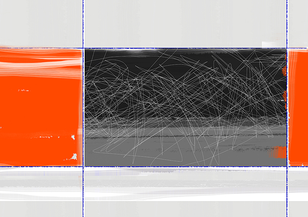 Orange And Black Print by Naxart Studio