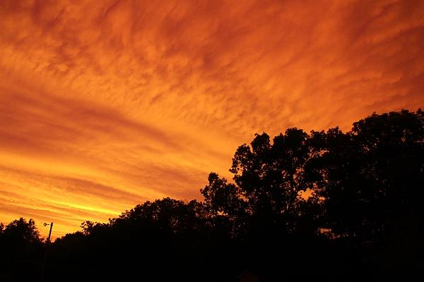 Karen Silvestri - Orange Storm Clouds