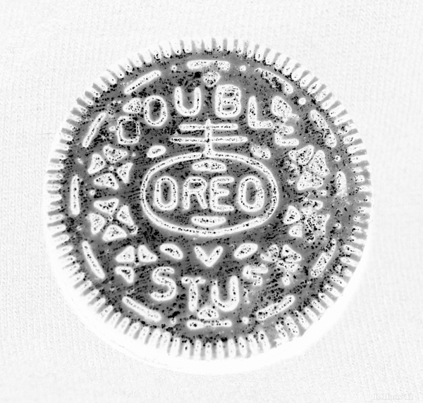 Oreo In Negetive Print by Rob Hans