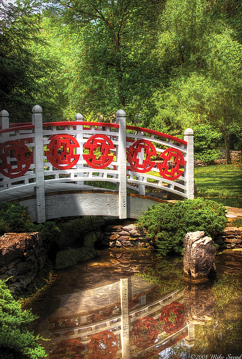 Orient - Bridge - Tranquility Print by Mike Savad