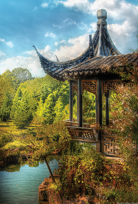 Orient - From A Chinese Fairytale Print by Mike Savad