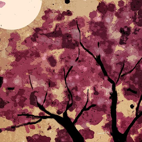 Oriental Plum Blossom Print by Xueling Zou