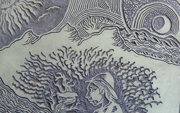 Original Linoleum Block Print Print by Thor Senior