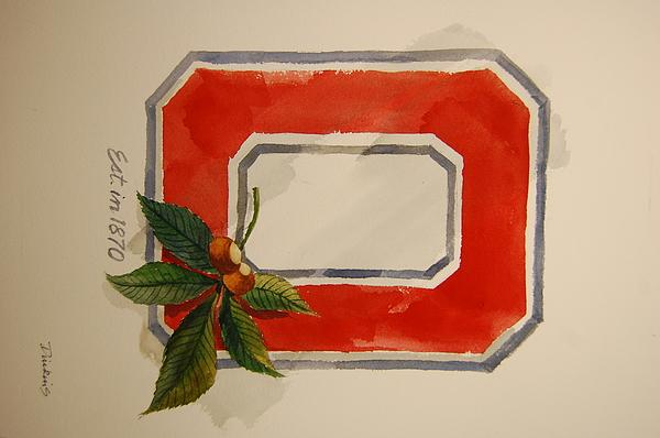 Osu Block O Print by Bill Dinkins