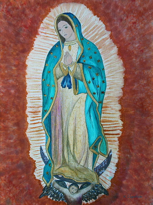 Our Lady Of Guadalupe Print by Kerri Ligatich
