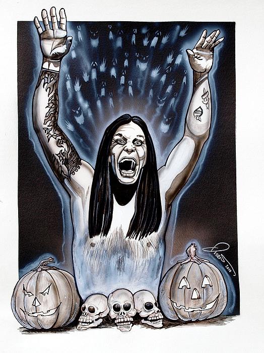 Ozzie's Halloween Print by Dave Olsen