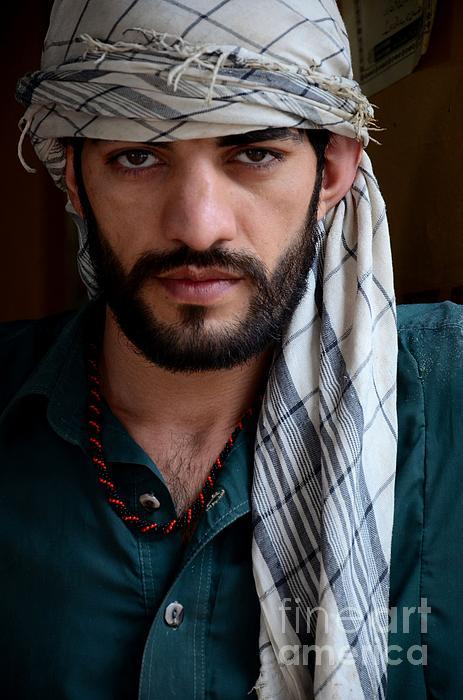Imran Ahmed - Pakistani Pashtun man models with headscarf and necklace Peshawar Pakistan