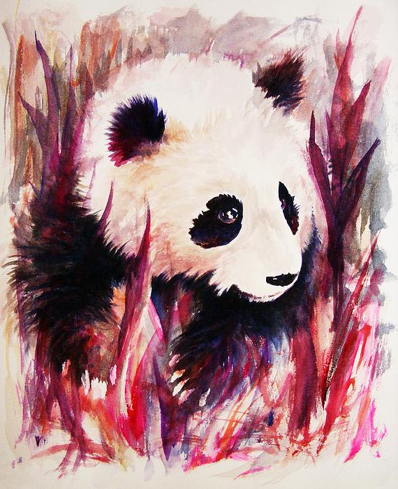Panda Print by Rachel Christine Nowicki