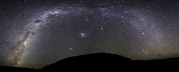Panoramic View Of The Milky Way Print by Luis Argerich