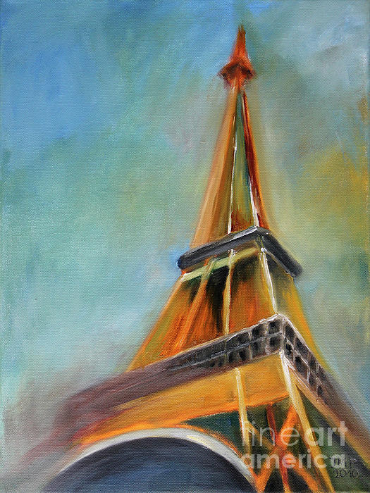 Paris Print by Jutta Maria Pusl