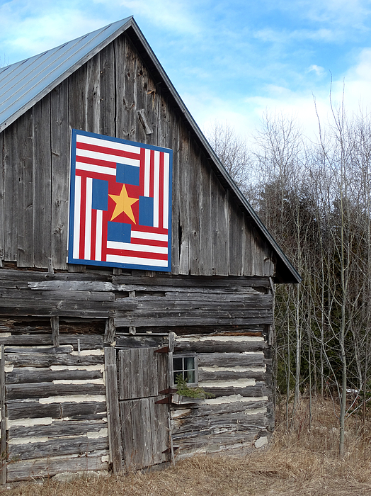 David T Wilkinson - Patriotic Log Barn