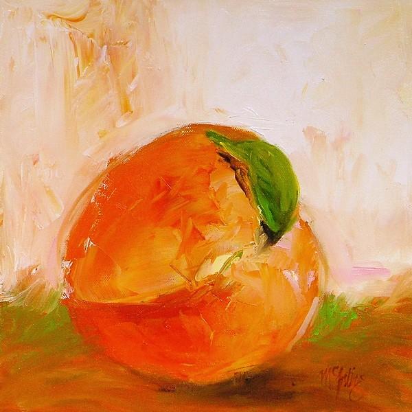 Peach Print by Cathy McIntire