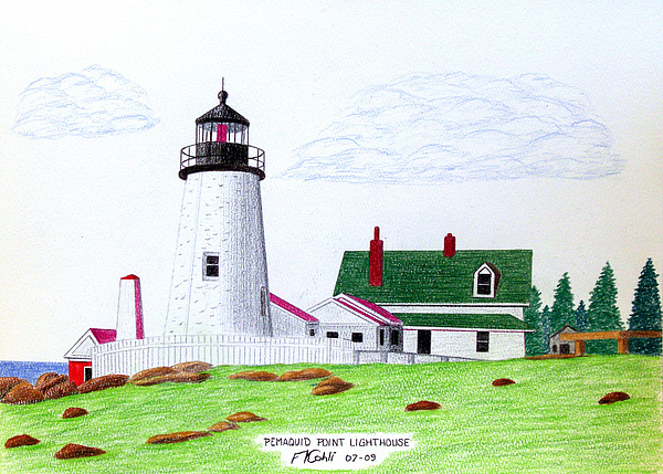 Pemaquid Point Lighthouse Print by Frederic Kohli