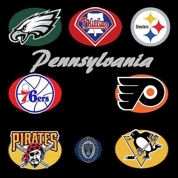 Pennsylvania Professional Sport Teams Collage Throw Pillow ...