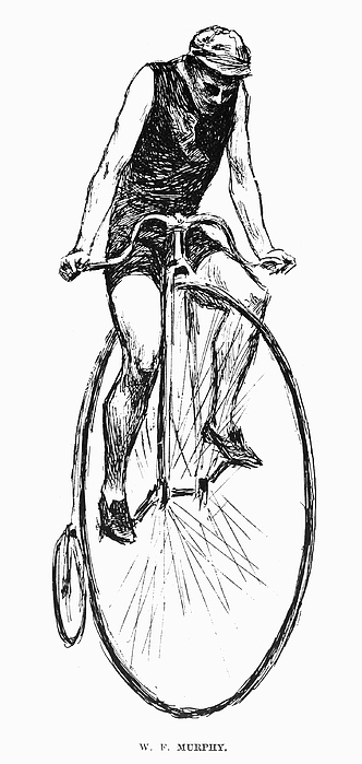 Penny Farthing Bicycle Print by Granger