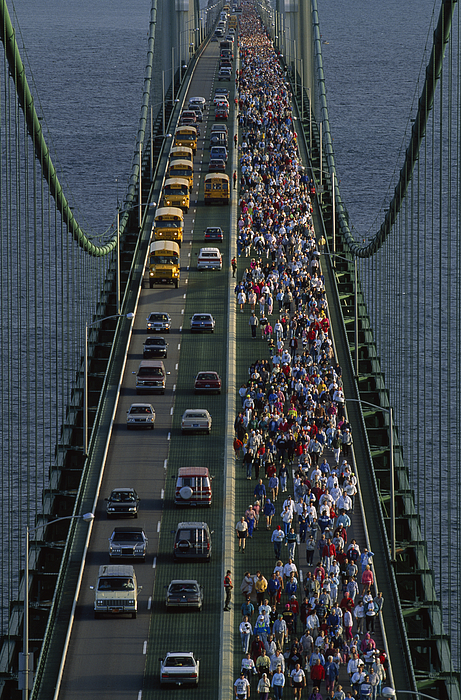 People Participating In The Annual Print by Phil Schermeister