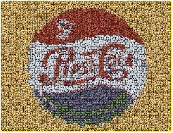 Pepsi Bottle Cap Mosaic Print by Paul Van Scott