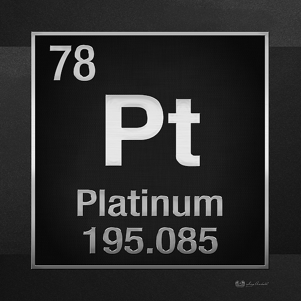 Periodic Table Of Elements Platinum Pt Platinum On