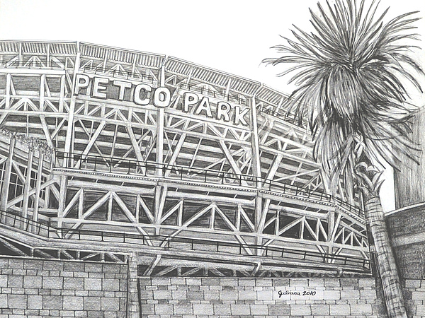 Petco Park Print by Juliana Dube