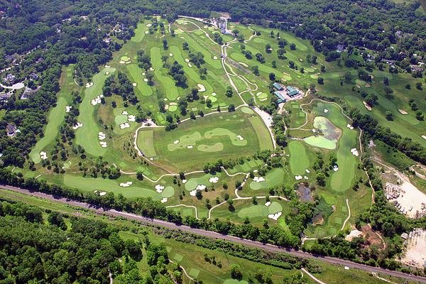 Philadelphia Cricket Club Militia Hill Golf Course Holes 3 4 5 6 7 8 And 9 Print by Duncan Pearson