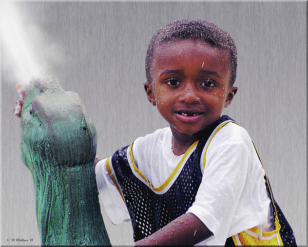 Philly Fountain Kid Print by Brian Wallace