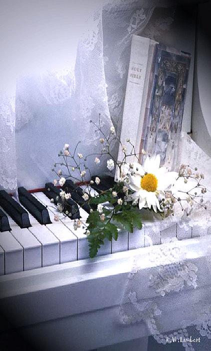 Piano Print by Kenneth Lambert