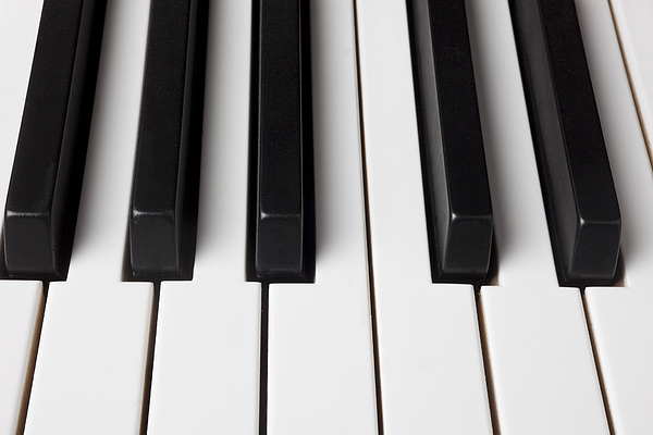 Piano Keys Close Up Print by Garry Gay