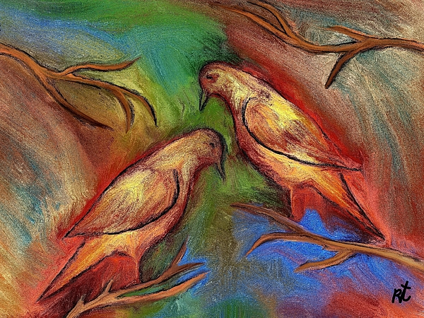 Pigeons Print by Rafi Talby