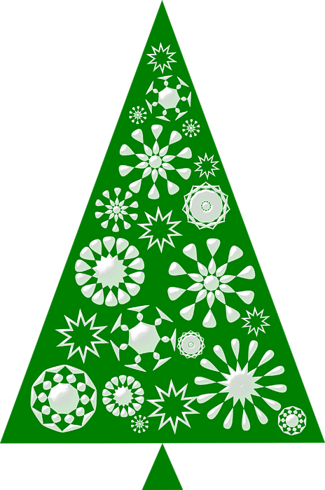 Pine Tree Snowflakes - Green T-Shirt for Sale by ...