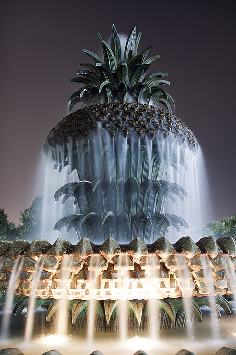 Pineapple Fountain Charleston Sc Print by Dustin K Ryan
