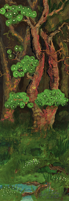 Pines By The Brook Print by Anna Folkartanna Maciejewska-Dyba