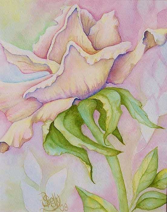 Pink Rose Print by Shelly Ziska