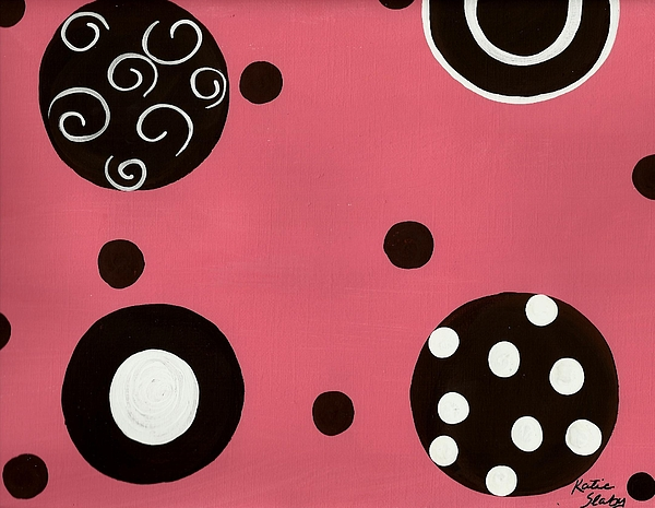 Pink Swirly Curly Print by Katie Slaby