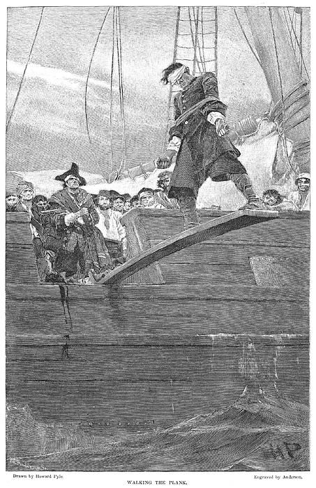 Pirates: Walking The Plank Print by Granger