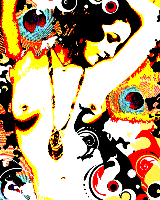 Poetic Peacock Print by Chris Andruskiewicz